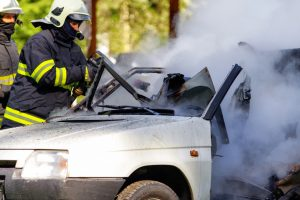 Fatal Car Accident Bucks County PA –  Vehicle in Flames after being struck by a Drunk Driver